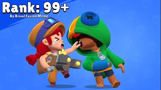 RANK 999+  LEON KISS AMBER 💋 Love Story 💟 Brawl Stars Animation Funny