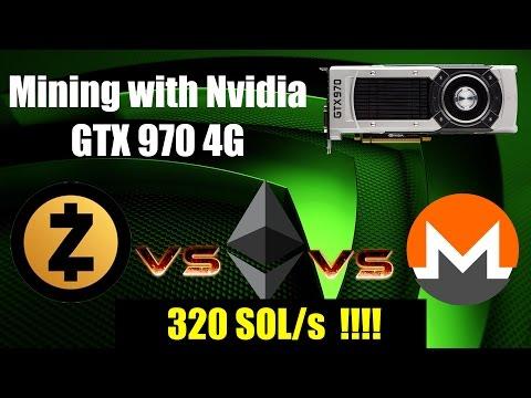 Mining Zcash, Ethereum & Monero With Nvidia GTX 970 4G