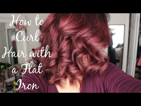 How To Curl Your Hair With Flat Iron
