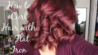 How to Curl Your Hair with a Flat Iron! | EASY | | Alyssa Nicole |