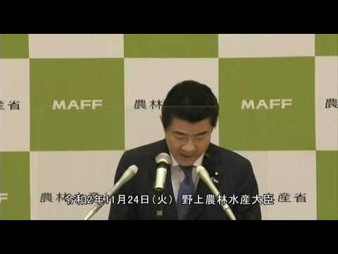 野上農林水産大臣記者会見(令和2年11月24日)