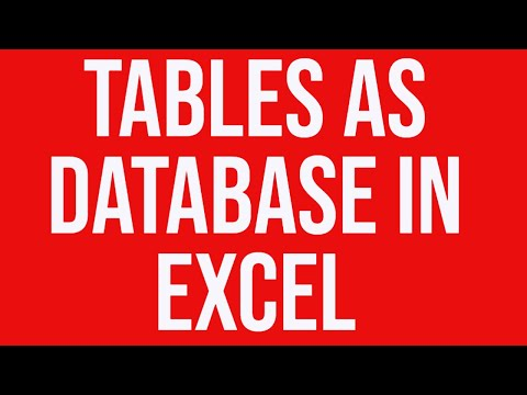 Tables as database in Excel