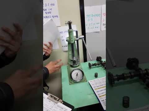 24. 밸브 스프링 장력 점검 / 자동차정비기능사 실기