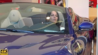 CUTE GIRL SHOWS SKILLS PARKING TWO FERRARI IN A TIGHT PLACE [2018 4K]