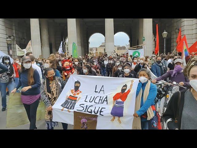 EZLN, CNI y FPDTA en la Huelga Climática en Viena - Palabras de Libertad (EZLN) y Isabel (CNI)