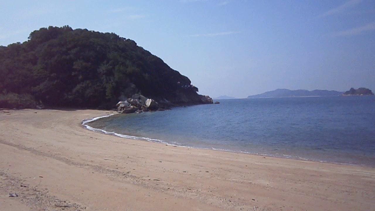 笠岡諸島の真鍋島の潮騒 - YouTube