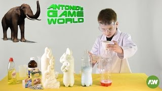 Elephant Toothpaste Experiment for kids with hydrogen peroxide and baking yeast!