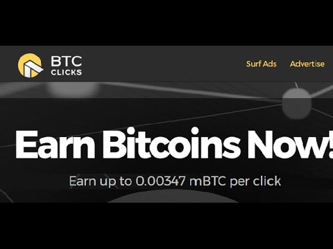 EARN BITCOINS WITH Click  ADS On BTC CLICK