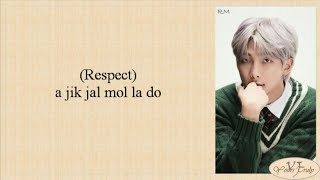 Download Lagu BTS (방탄소년단) RM, SUGA - Respect (Easy Lyrics)