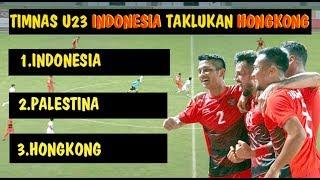 TIMNAS INDONESIA U 23 JUARA GRUP A TAKLUKAN HONGKONG DAN MASUK 16 BESAR DI ASIAN GAMES
