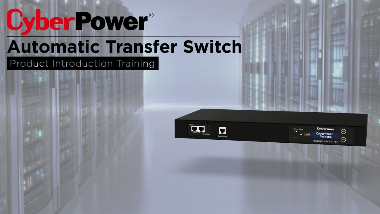 Cyberpower Automatic Transfer Switches Product Introduction Youtube Switch For Generator Ats View