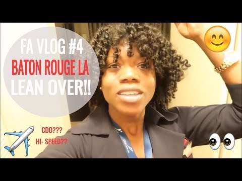 Flight Attendant Vlog #4: Hi-Speed Flight! Baton Rouge Lean Over!