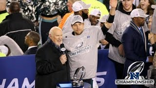 Eagles Victory Celebration Pt1, NFC Champs, Nick Foles Amazing, Golden Age, Chip Kelly Is A Dingbat!