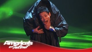 Kenichi Ebina - Robotic Dancer Remixes His Matrix-Style Routine - America's Got Talent 2013 Finals