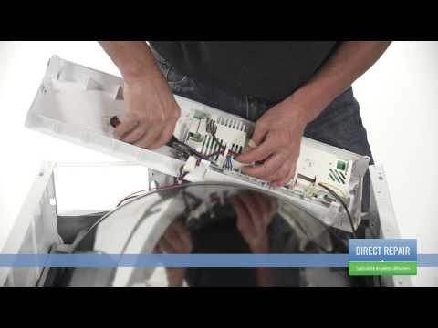 Changer la carte de commande dans un s che linge youtube - Comment recuperer du linge deteint ...