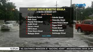 Flooded areas in Metro Manila