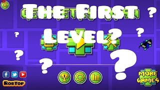 The first  online level ever created in Geometry Dash??