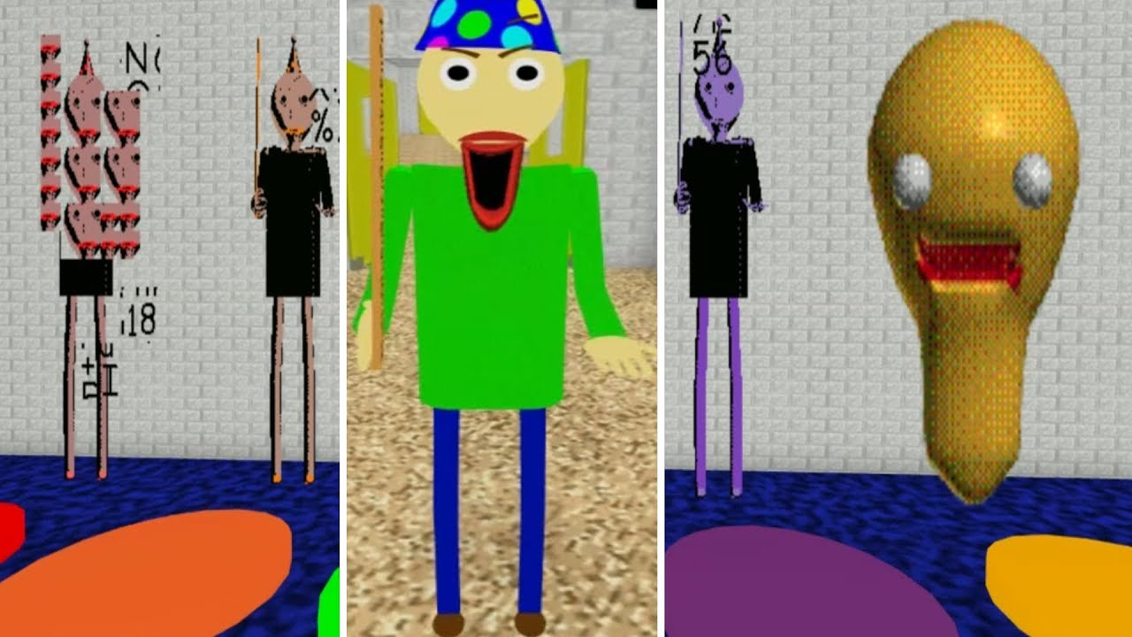 Play As New Party Baldi Baldi S Basics Birthday Bash Roblox - ultra update baldis basics 3d rp roblox