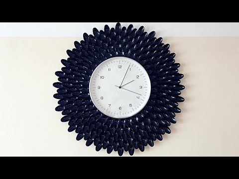 Maman DIY : Cheap and Easy Wall Clock Decoration Ideas