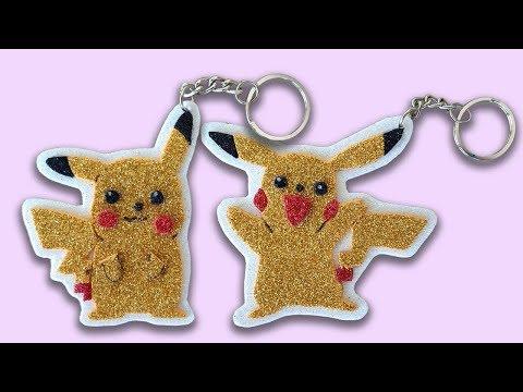 Part 2 How to make Pikachu (Pokémon) Keychain    DIY Pikachu (Pokémon) Keychain   Sneha's Craft