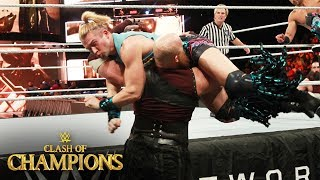 Rowan viciously slams Tyler Breeze face first into the ring apron: WWE Clash of Champions 2017