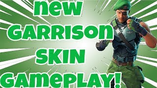 **NEW** FORTNITE SKIN GARRISON GAMEPLAY, REVIEW AND WHERE DID IT COME FROM?