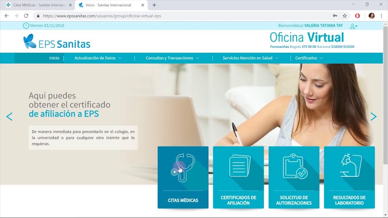 Citas medicas online eps sanitas