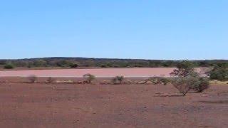 melon/pink lake on Great Northern Highway- Western Australia