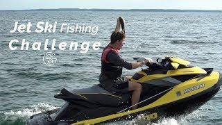 JET SKI fishing CHALLENGE!! (Relay Race)