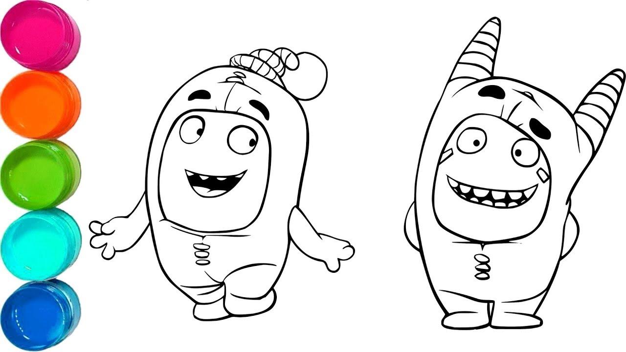 Cute Oddbods Pogo and Newt amp Ninja