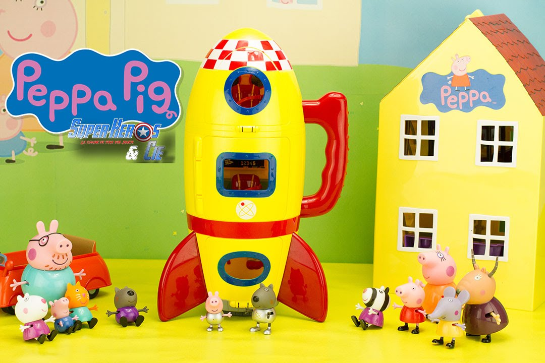 Peppa pig fus e spatiale peppa 39 s space ship playset jouet toy review youtube - Fusee peppa pig ...