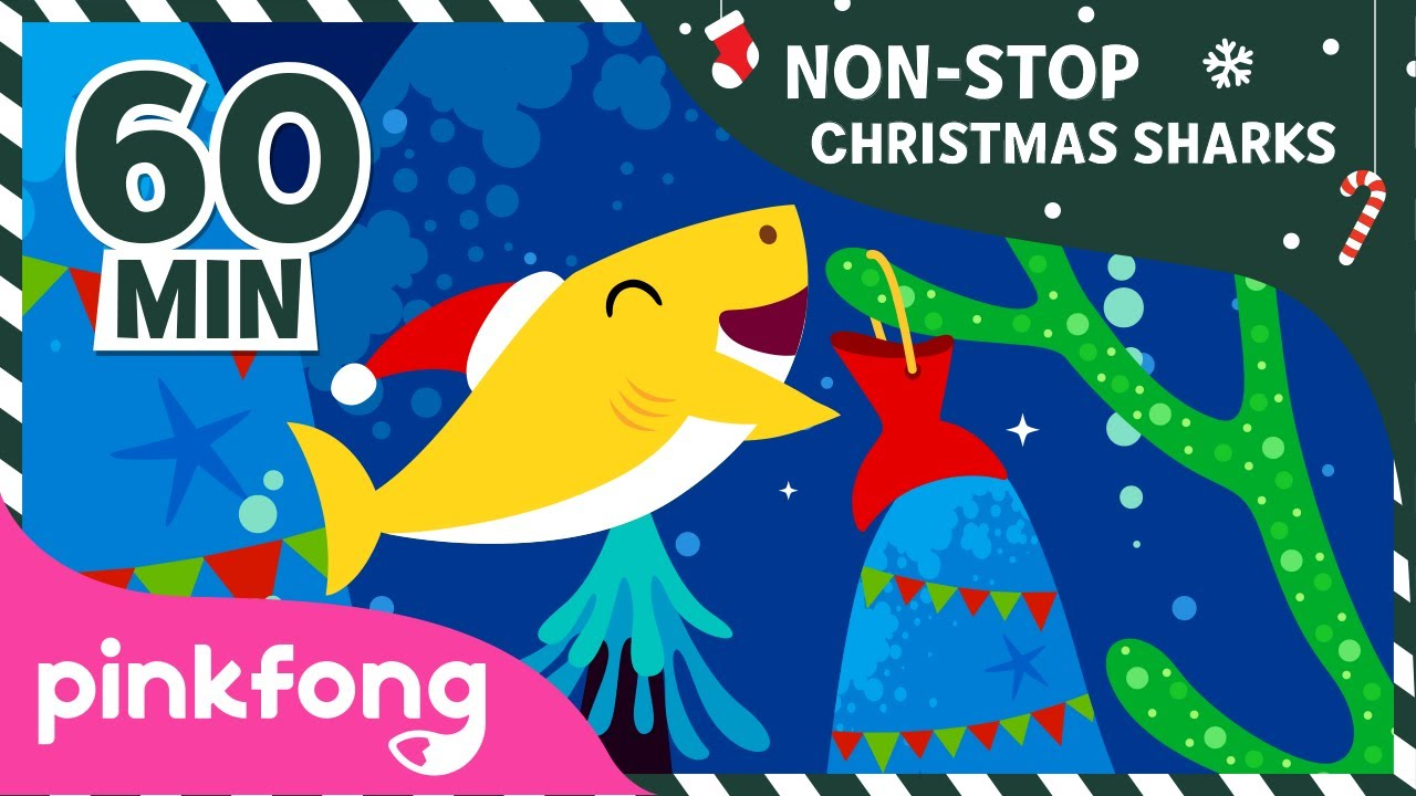 Christmas Sharks 1hour non-stop | +Compilation | Christmas Songs | Pinkfong Songs for Children