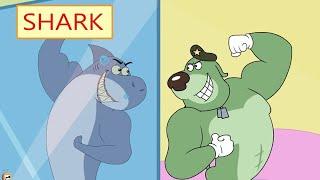 Rat-A-Tat  'Dog & Shark AQUARIUM Fish Cartoons Compilation'  Chotoonz Kids Funny Cartoon Videos