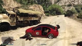 GTA 5 online PS4 #4 Расстреляли военных и угнали грузовик. The military shot and hijacked the truck(Добро пожаловать на канал - ГейминГ тайм - на котором вы увидите как я и мои друзья веселимся в разных играх..., 2016-11-08T09:59:55.000Z)
