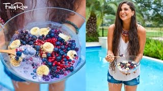 Yummy Breakfast Recipe! FullyRaw Blueberry Pomegranate G-RAW-nola!