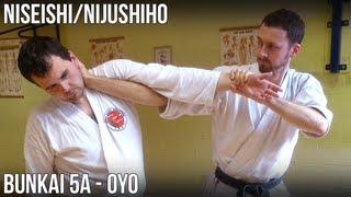 Niseishi/Nijushiho Bunkai - 5a Oyo (Age uke, age empi, shuto uke, yoko geri, kagi zuki)