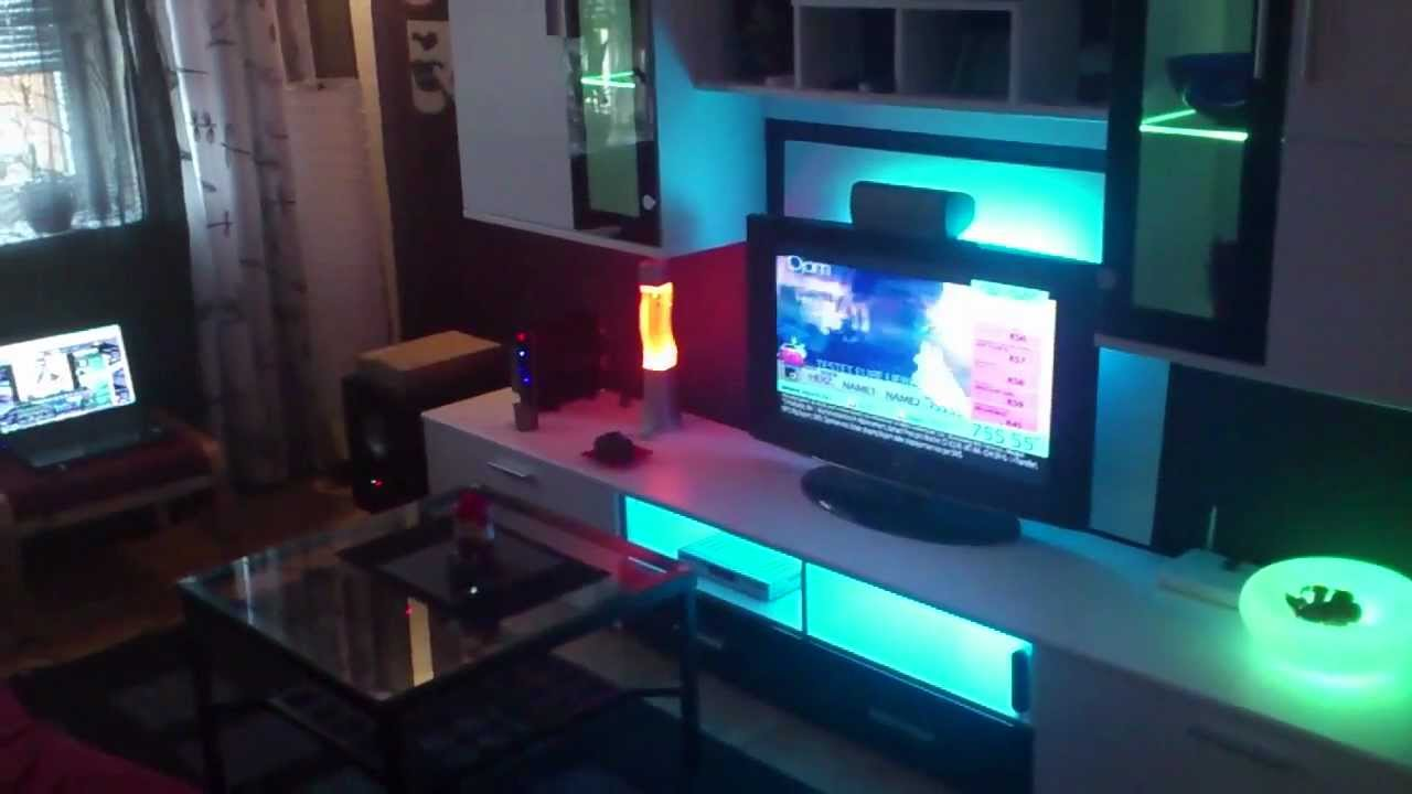 IKEA LED DIODER Wohnzimmer indirekte Beleuchtung Living Room Wohnwand  YouTube