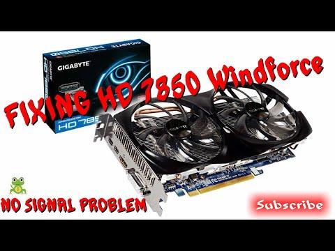 How To Fix No Signal Or Black Screen On GPU - HD 7850 Windforce