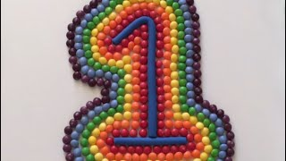 Learn To Count Make Numbers With M&M'S Rainbow Skittles Play Doh Fun creative fun learning