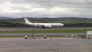 Avião da Força Aérea Italiana pousando em Confins - cnf