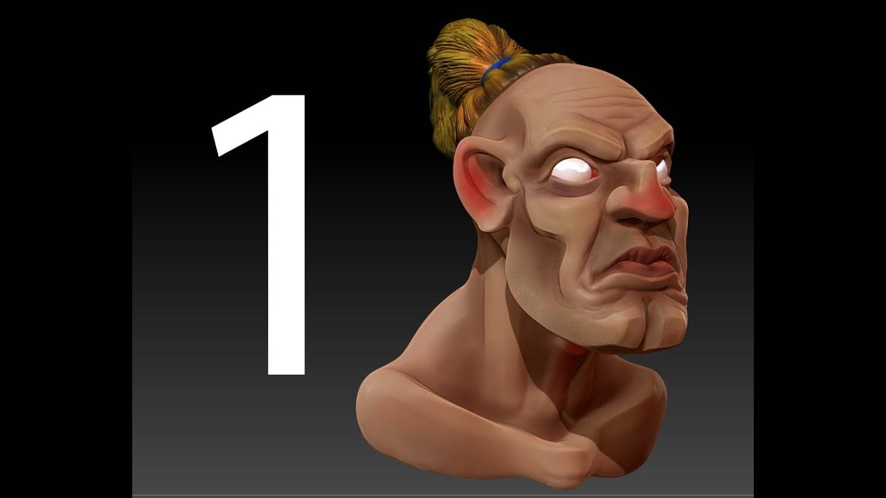 Character Design Zbrush Tutorial : Zbrush tutorial creating a d cartoon character no youtube