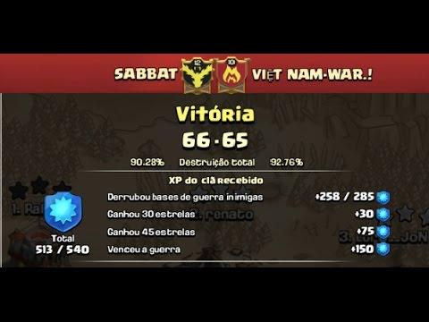CLASH OF CLANS - GUERRAS DE CLANS - SABBAT Vs. VIET NAM-WAR.!