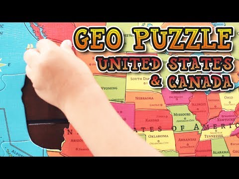 United States & Canada GeoPuzzle | Fun Geography Puzzle for Kids