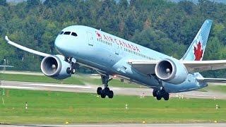 [FullHD] Air Canada Boeing 787-8 Dreamliner takeoff at Zurich/ZRH/LSZH