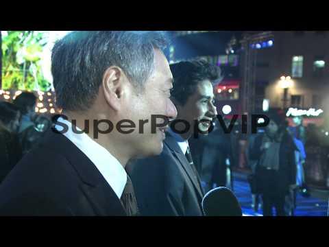 Ang Lee and Suraj Sharma at the UK Premiere of 'Life of P...