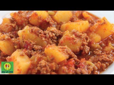 Картофель с мясным фаршем. Kıymalı patates.