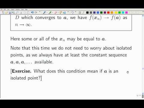 Lecture 13b: Math. Analysis - Continuous Functions