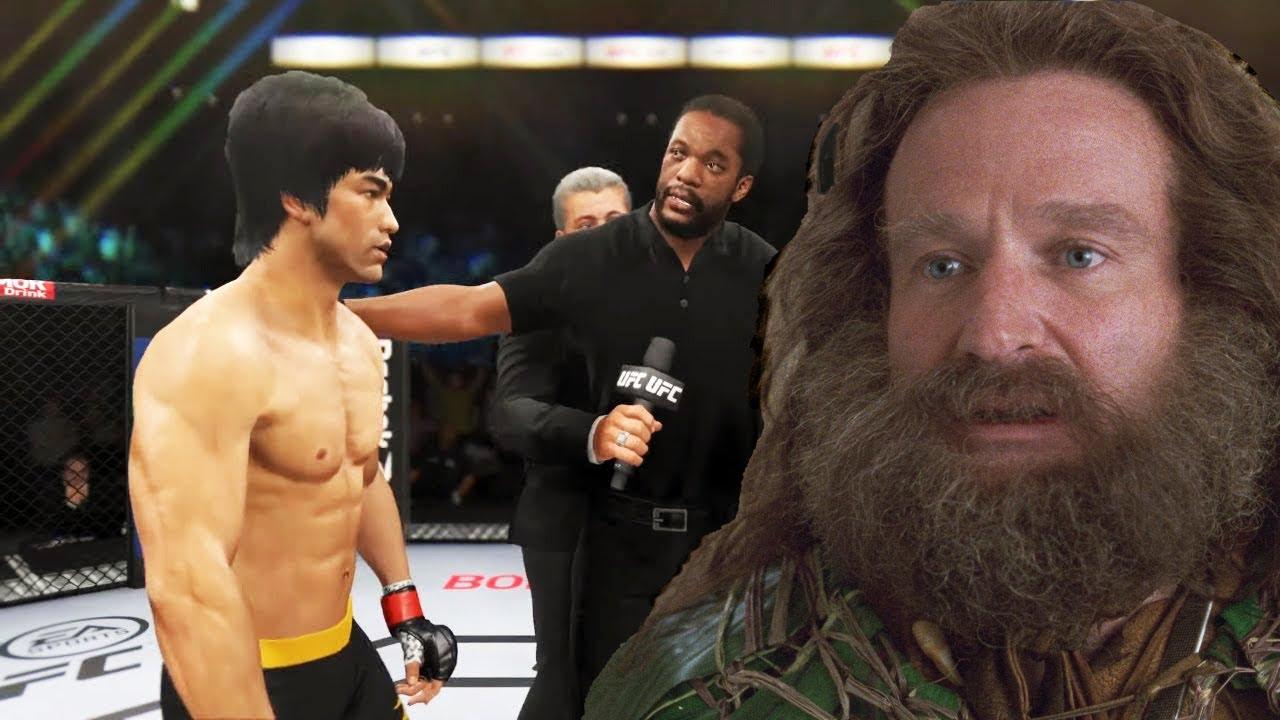 UFC 4   Bruce Lee vs. Alan Parrish (Jumanji) (EA Sports UFC 4)