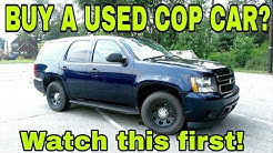 Buying a Used Cop Car!
