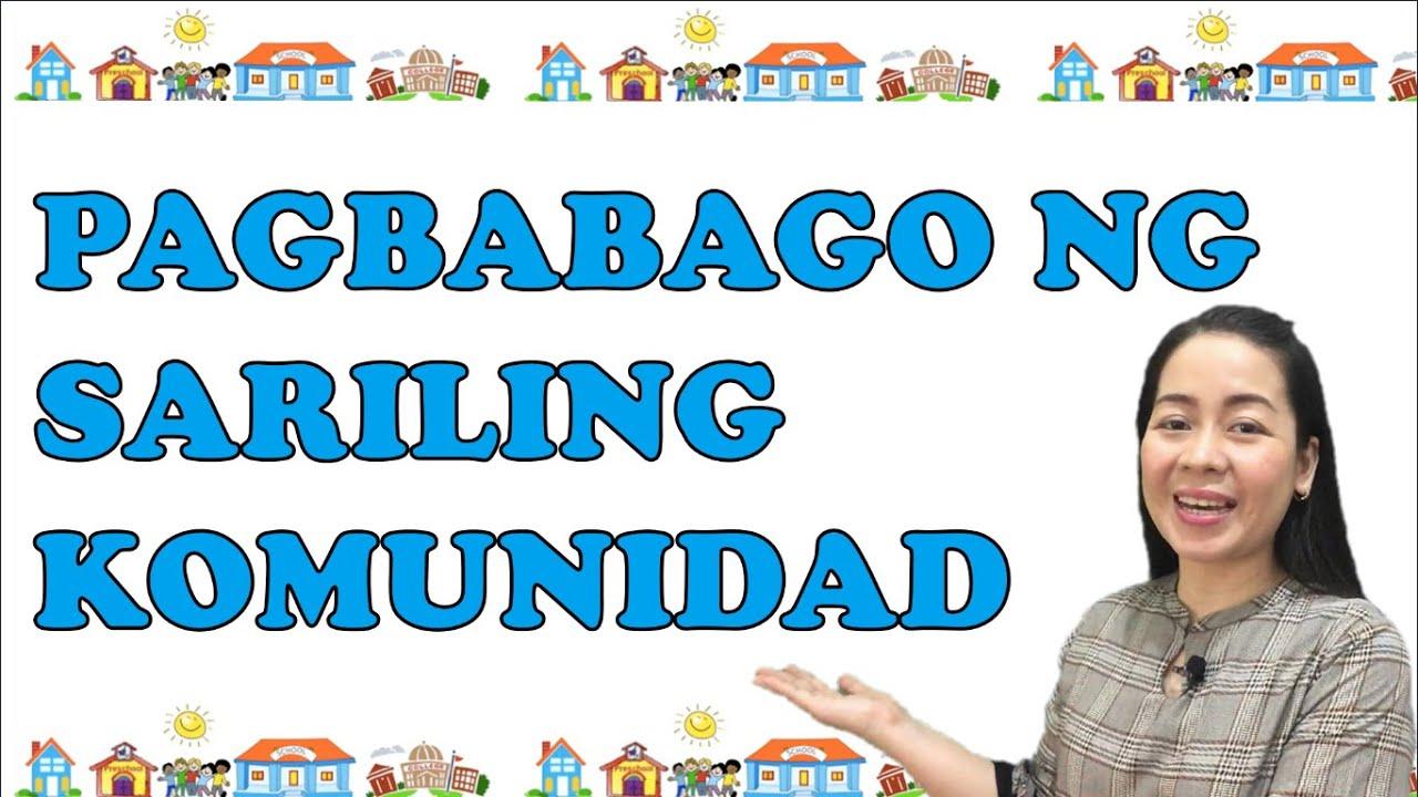 hight resolution of GRADE 2 ARALING PANLIPUNAN 2   QUARTER 2 WEEK 2   PAGBABAGO NG SARILING  KOMUNIDAD - YouTube